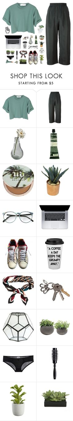 """""""10:53"""" by ajeungs ❤ liked on Polyvore featuring StyleNanda, MM6 Maison Margiela, Dot & Bo, Aesop, Urban Decay, Threshold, adidas, H&M, HomArt and Keter"""
