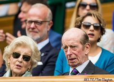 whatkatewore: Men's Final Wimbledon, July 16, 2017-Princess Alexandra and the Duke of Kent with the Earl of St Andrews to their back left