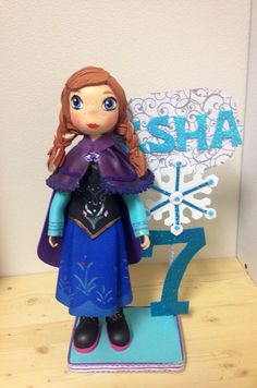 Frozen centerpiece  Frozen cake topper Princess Anna on Etsy, $68.00