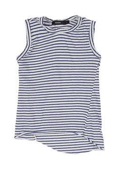 mini tank with tail bluebell/undyed | bassike