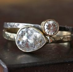 Conflict-free rose-cut diamond engagement ring by Alexis Russell