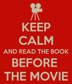 I'm always disappointed when I see the movie, because the books are always better!