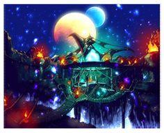 Dark Cloud 2 concept art - Starlight Temple