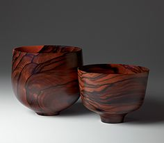 bowls turned from camagon wood by Bob Stocksdale