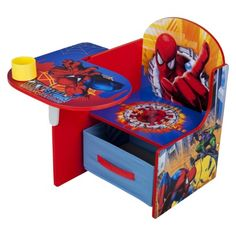 Delta Children's Products Chair Desk with Storage Bin - Spiderman--Maybe I can find this in Ninja Turtles or Jake the Pirate?