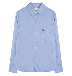 Classic shirt with pointed collar and wax soft cotton feel
