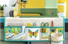 If you enjoy sewing you'll love this handy Sewing Machine Mat with pockets and a loop for scissors. It's very inexpensive to make and is a fantastic way to store all your bits and pieces where you can access them easily. Check out the popular Hanging Bed Organiser as well!
