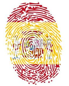 Illustration of Hand print impression of flag of Portugal vector art, clipart and stock vectors.