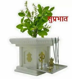 BKR® Jagan Hardware Fiber Tulsi Planter Pot Look Like Real Marble, Light Weight Highly Resistant to Breakage, Harsh Weathers and Ultra Violet Rays - There is an eternal connection between an Indian household and its tulsi plant. Thulasi Plant, Plant Decor, Tulsi Vivah, Pooja Room Door Design, Puja Room, Garden Pots, Diys, Planter Pots, Home Decor