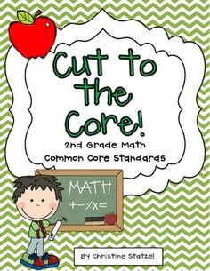 This freebie is a set of the 2nd grade Common Core math standards. Print this out and keep it in your teacher binder or on a clipboard so you can refer to it throughout the year!