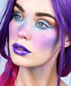 Looking for for inspiration for your Halloween make-up? Browse around this site for unique Halloween makeup looks. Unique Halloween Makeup, Last Minute Halloween Costumes, Halloween Makeup Looks, Diy Halloween, Unique Makeup, Maquillage Sf, Costumes Alien, Space Costumes, Makeup Trends