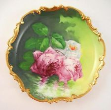 $75 ANTIQUE HANDPAINTED LIMOGES FRANCE 9 1/4\