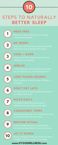 Healthy sleep is vital for a healthy lifestyle! here are my 10 Steps to Naturally Better Sleep http://hyggewellness.com/blog/naturallybettersleep/