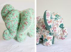 DIY Doudou Elephant {with boss} - The Enchanted Animal Sewing Patterns, Stuffed Animal Patterns, Elephant Stuffed Animal, Stuffed Animals, Crochet Elephant Pattern, Baby Couture, Sewing For Beginners, Crafts For Teens, Sewing Projects