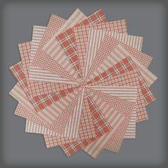 40 Petal Pink Homespun 5 inch Quilt Squares $6.99