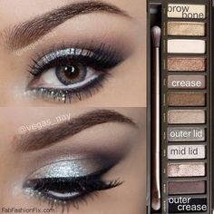 Silver Smoky Eyes Perfect For Any Occasion!:) Tutorials And Pictures #Beauty #Musely #Tip