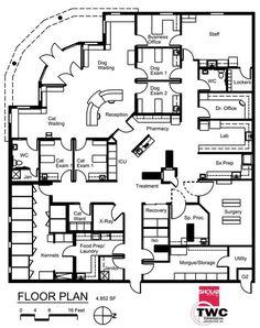 Veterinary floor plan: All Pets Medical Center: