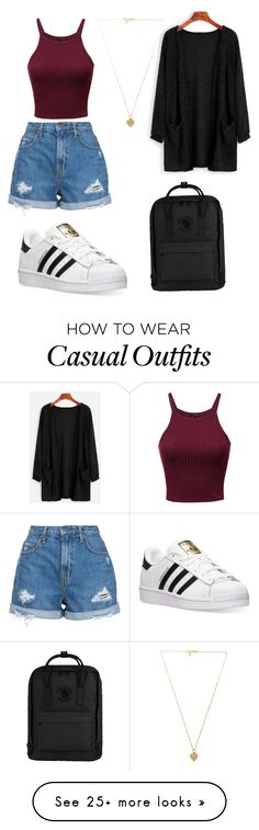 """Casual outfit"" by bodhana on Polyvore featuring Nobody Denim, WithChic, adidas, Vanessa Mooney, Fjällräven, DateNight and casualoutfit"