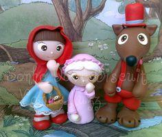 Chapéuzinho vermelho, vovó e o Lobo mau....rs