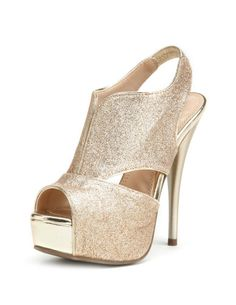 Glitter slingback for holiday parties
