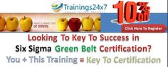 Trainings24x7 is conducting six sigma certification in Delhi on august 1, 2015. Join Now!  Training Features: 3Days ChapterTest Handbook PrepTool @Rs10850, Get 10%Off. Enroll Now!  Visit: http://trainings24x7.com/six-sigma-green-belt-certification/