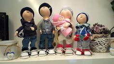 My new handmade dolls - Happy family ❤