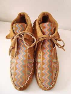 Scout  Awesome Suede Patterned Moccasin Booties by WolfeVintage, $29.00