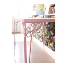 """FALKHÖJDEN Desk - pink - IKEA, $79.99, 43 1/4x25 5/8 """", ooooh this could be a cool kitchen table!"""