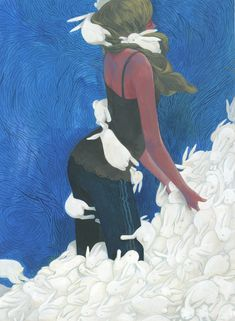 Rabbit Art, Bunny Art, Korean Artist, Sculpture Art, Illustration Art, Illustrations, Folk Art, Graphic Art, Cinderella