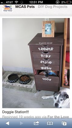 This is great for pet supplies. #organized