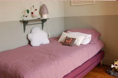 Use ikea box spring. We supply legs and back is supported by plumbing box.
