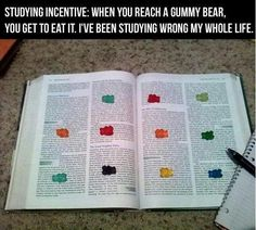 I need to start doing this with cinnamon bears or something chocolate.