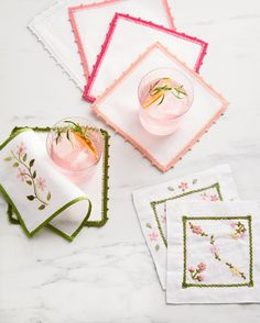 Sewing Projects, Craft Projects, Sewing Ideas, Craft Ideas, Arts And Crafts, Diy Crafts, Fabric Crafts, Learning To Embroider, Pink Cocktails