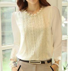 Blusas con perlas 3