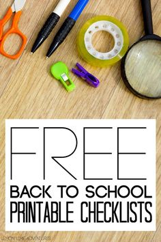 Free Back to School Printable Checklists | great for any student or family to organize