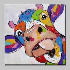 Cow Painting, Oil Painting Abstract, Painting & Drawing, Painting People, Painting Flowers, Watercolor Artists, Painting Lessons, Hand Painted Canvas, Canvas Art