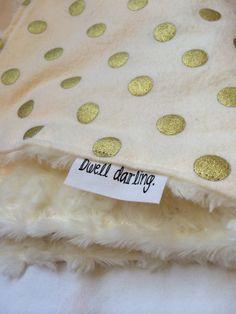 Gold Baby Blanket Classy Modern Gold Nursery Gold by DwellDarling, $14.00