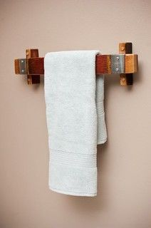 Barrel Stave Towel Rack - towel bars and hooks - denver - by Alpine Wine Design