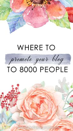 I am sharing with you the easiest method to promote your blog. Let it be discovered by over 8000 people a month. No effort from you at all! Click it to read more.