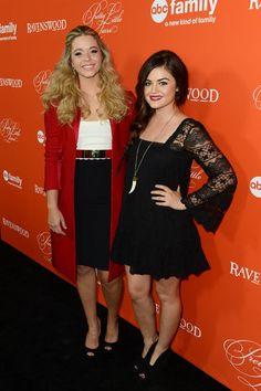 Sasha Pieterse & Lucy Hale: PLL's Halloween Special Screening