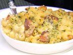 Paul's crafty mac and cheese with pancetta, from the Tee Off Bar and Grill in San Fran.
