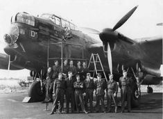 Pilots and ground personnel airfield taking pictures against a background of an Avro Lancaster W4364 Billie from 103 2nd Squadron of the Royal Air Force. W4364 became the first Lancaster to complete 50 successful sorties over occupied Europe. Airfield in Lincolnshire, taken: 23.08.1943. Sadly W4364 was lost on a raid to Nurnberg just 4 days later. - See more at: http://ww2today.com/#sthash.mzab83Sv.dpuf