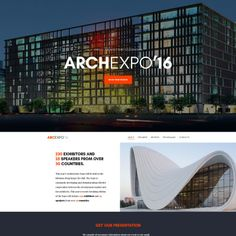 Arch Expo Parallax Website Template