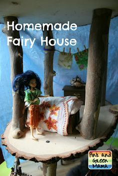 Pink and Green Mama: * Homemade Fairy House