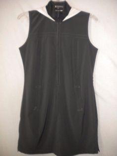TItle Nine Size Small Sleeveless Stretch Gray White Women Golf Tennis Dress  | eBay