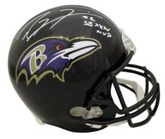 2c59a4657 Ray Lewis Signed Baltimore Ravens Full Size Replica Helmet SB MVP JSA.  Sports Integrity