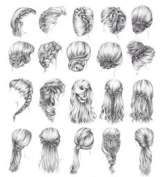 Oh my goodness, I can finally draw cute hairstyles~! <3 amazing reference!