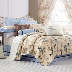 bird bedding sets queen | ... quilting bed cover handmade children's bedding set 3pcs Queen King