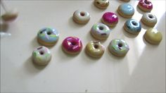 Just glazing my doughnuts. It's been a while since I've done anything with #polymerclay so glad how these little doughnut charms turned out but undecided on what to turn them into?