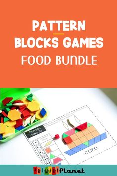 These fun math games use pattern blocks and dice. Your students will LOVE to discover, explore, and investigate shapes and mathematical concepts using pattern blocks! Low prep and easy to use! Easy to differentiate as well! Perfect for math centers, morning tubs, or small group math!